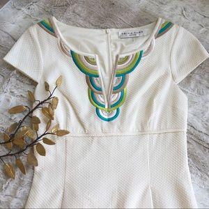 Trina Turk Embroidered Collar Dress